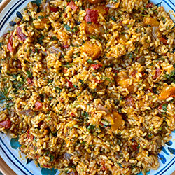 Fiery Spanish rice salad thumbnail