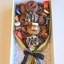 Chocolate donut bouquet thumbnail