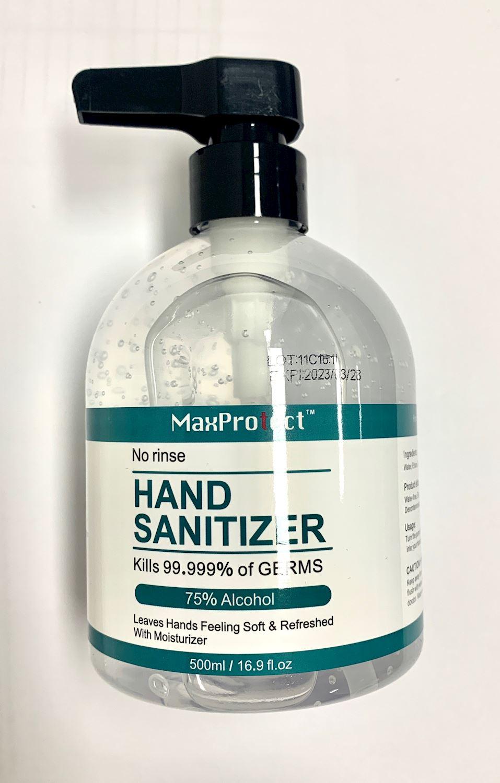 MaxPro Hand Sanitizer Gel with  Pump 500ml  thumbnail