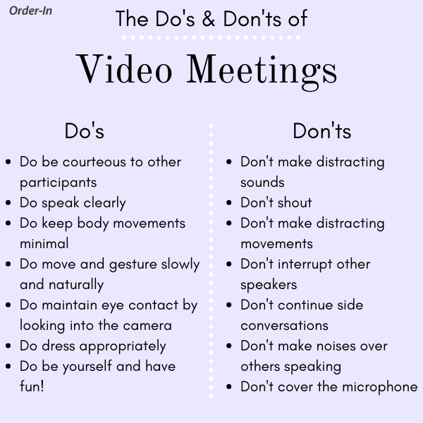infographic of do's and don't's